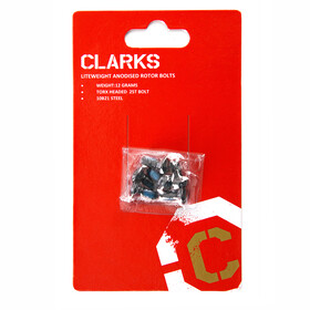Clarks 6 Anodised Rotor Bolts black